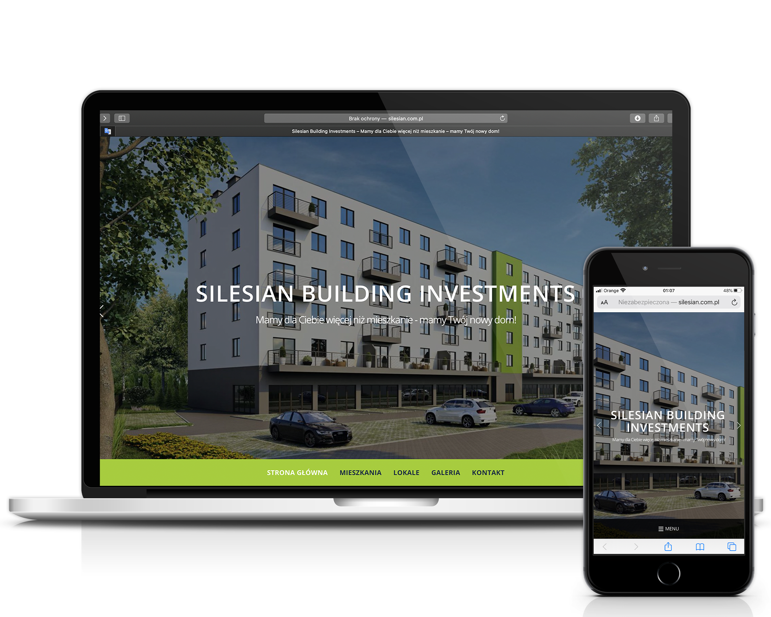 Silesian Building Investments strona internetowa