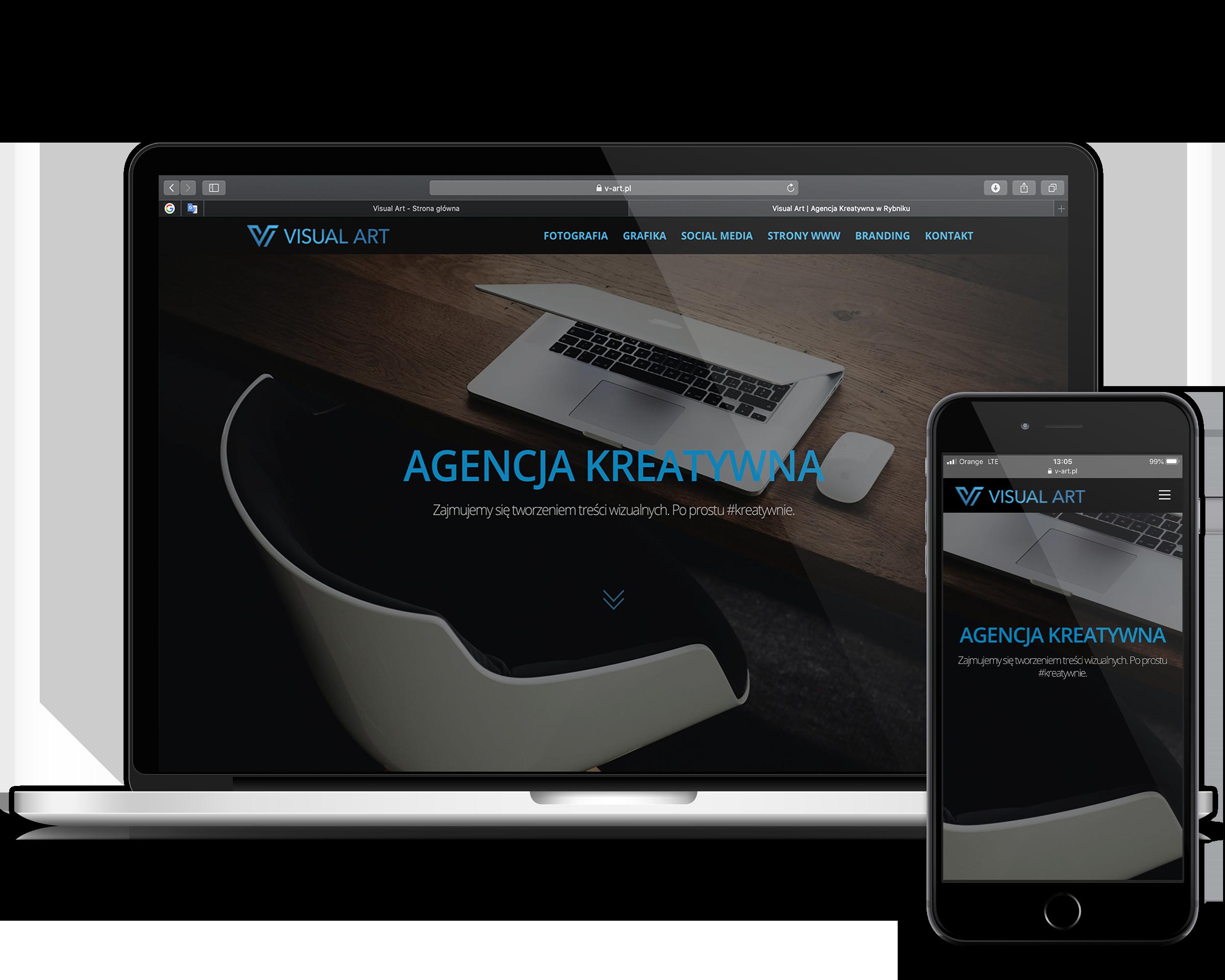 Visual Art strona internetowa