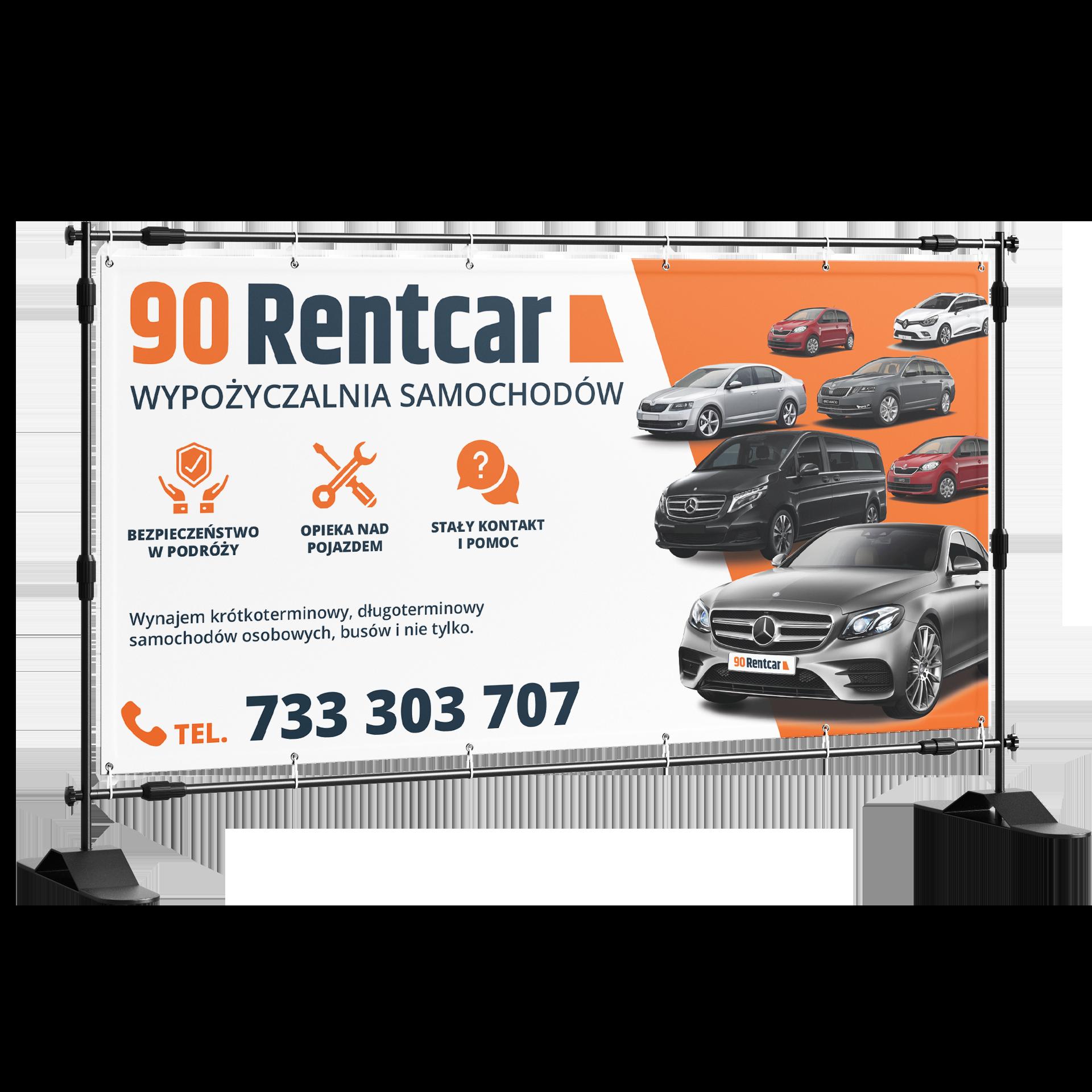 Baner reklamowy rentcar